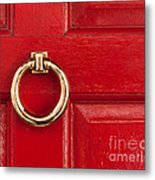 Red Door 01 Metal Print