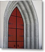 Red Door At Our Lady Of The Atonement Metal Print