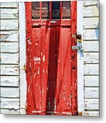 Red Door By Diana Sainz Metal Print by Diana Sainz