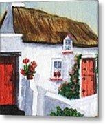 Red Door Cottage Like Maggies Metal Print