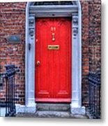 Red Door Dublin Ireland Metal Print
