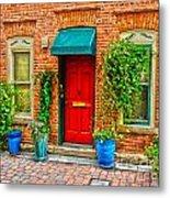 Red Door Metal Print by Baywest Imaging