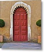 Red Door Of Caldas De Rainha Metal Print
