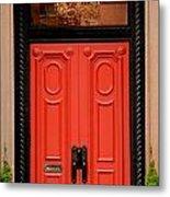 Red Door On New York City Brownstone Metal Print