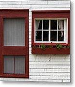 Red Door Red Window Metal Print