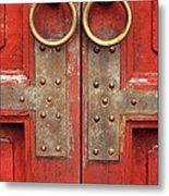 Red Doors 02 Metal Print