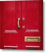 Red Doors Metal Print