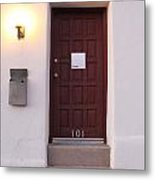 Red Doors Of Tucson Metal Print