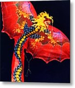 Red Dragon Kite Metal Print