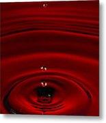 Red Drop Metal Print