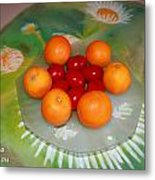 Red Eggs And Oranges Metal Print