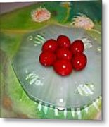 Red Eggs And Daisies Metal Print