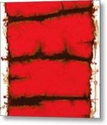 Red Element Metal Print