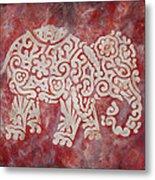 Red Elephant Metal Print