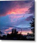 Red Evening Arizona Sky Metal Print