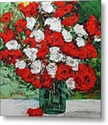 Red Explosion Metal Print