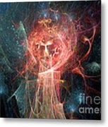 Red Fire Angels With Tower #1 Metal Print