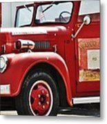 Red Fire Truck Metal Print