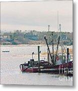 Red Fishing Boat Metal Print