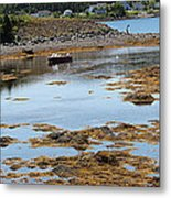 Red Flat At Low Tide Metal Print