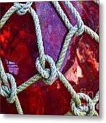 Red Float Metal Print
