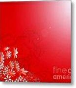 Red Floral Dream Metal Print