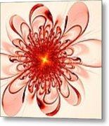 Single Red Flower Metal Print