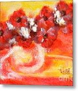 Red Flower Bouquet Metal Print