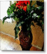 Red Flower Stance Metal Print