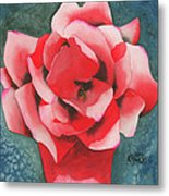 Red Flower Two Metal Print