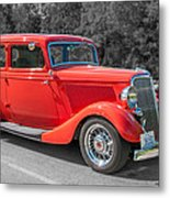 Red Ford 3d21740 Metal Print
