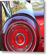 Red Ford Tailight Metal Print