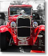 Red Ford Ute Metal Print