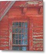 Red Gable Window Metal Print