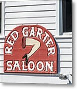 Red Garter Key West - Square Metal Print