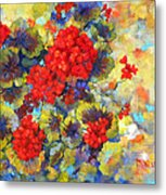 Red Geraniums II Metal Print