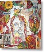 Red Girl 27 Metal Print