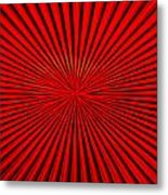 Red Glass Abstract 1 Metal Print