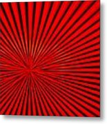Red Glass Abstract 3 Metal Print