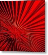Red Glass Abstract 6 Metal Print