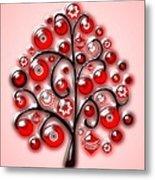 Red Glass Ornaments Metal Print