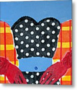 Red Gloves Metal Print