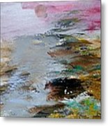 Red Glow With Waters Metal Print