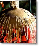 Red Gold Glitter Metal Print