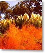 Red Grass Metal Print