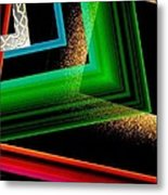 Red Green And Brown Abstract Art Metal Print by Mario Perez
