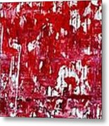 Red Grey White And Black Metal Print