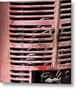 Red Grill Metal Print