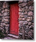 Red Grist Mill Door Metal Print