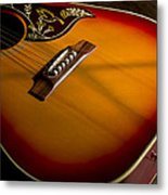 Red Guitar In Shadow Metal Print